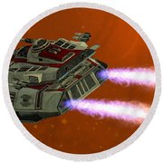 Ironstar In Space Round Beach Towel