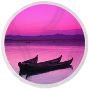 Irrawaddy River Round Beach Towel