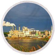 Irving Mill Round Beach Towel