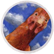 Is That The Colonel Round Beach Towel by Billie Colson