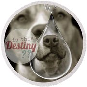 Round Beach Towel featuring the digital art Is This Destiny by Kathy Tarochione