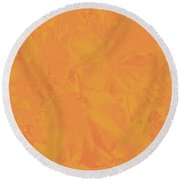 Round Beach Towel featuring the photograph Is This The New Black? by Nareeta Martin
