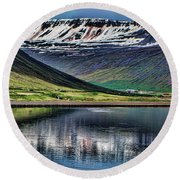 Isafjordur Round Beach Towel by Shirley Mangini