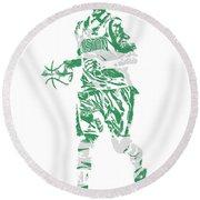 Isaiah Thomas Boston Celtics Pixel Art 17 Round Beach Towel