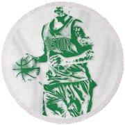 Isaiah Thomas Boston Celtics Pixel Art Round Beach Towel