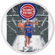 Isiah Thomas Round Beach Towel