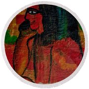 Isis, Egyption Queen Of Earth Round Beach Towel