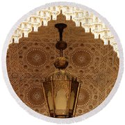 Islamic Plasterwork Round Beach Towel