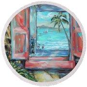Island Bar Coral Round Beach Towel