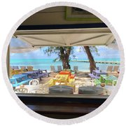 Island Bar View Round Beach Towel