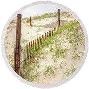 Island Beach Dunes Round Beach Towel