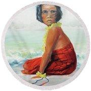 Island Child Round Beach Towel