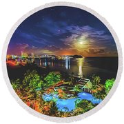 Island Dream Round Beach Towel