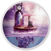 Round Beach Towel featuring the digital art Island Dreaming by Nathan Wright