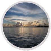 Island Horizon Round Beach Towel by Christopher L Thomley