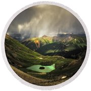 Island Lake Round Beach Towel