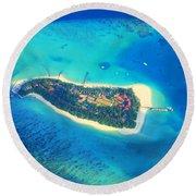 Island Of Dreams Round Beach Towel