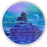 Island Of Lost Souls Round Beach Towel by Mark Blauhoefer