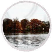 Round Beach Towel featuring the photograph Island Of Trees by Ana Mireles