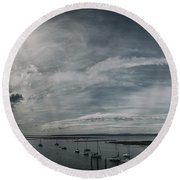 Island Panorama Round Beach Towel