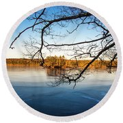 Island Reflection Round Beach Towel