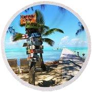 Island Time Round Beach Towel
