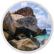 Island Virgin Gorda The Baths Round Beach Towel