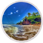 Island Wave Round Beach Towel