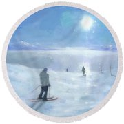 Islands In The Cloud Round Beach Towel