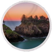 Round Beach Towel featuring the photograph Islands In The Sea by Darren White