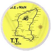Isle Of Man Tt Round Beach Towel