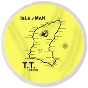 Isle Of Man Tt Round Beach Towel