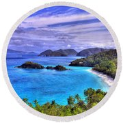 Isle Of Sands Round Beach Towel