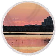 Isle Of Wight Dawn Round Beach Towel