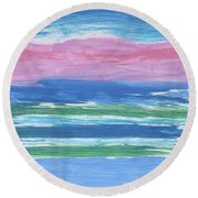 Isles  Round Beach Towel by Don Koester