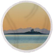 Round Beach Towel featuring the photograph Islet by Davor Zerjav