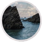 Islets At The Bottom Of The Rocks Round Beach Towel
