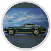 Iso Grifo Gl 1963 Painting Round Beach Towel
