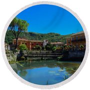 Round Beach Towel featuring the photograph Isola Del Liri by Dany Lison