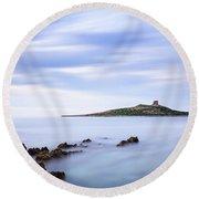 Isola Delle Femmine Round Beach Towel