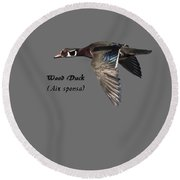 Isolated Wood Duck 2017-1 Round Beach Towel