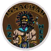 Issachar Aztec Warrior Round Beach Towel