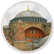 Round Beach Towel featuring the photograph Istanbul Dome by Munir Alawi
