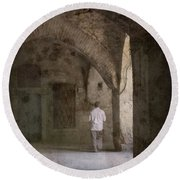 Round Beach Towel featuring the photograph Istanbul, Turkey - The Old Han by Mark Forte
