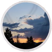 Round Beach Towel featuring the photograph It Cometh by Marie Neder