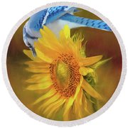 It Is All About The Seeds Round Beach Towel by Janette Boyd