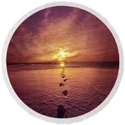 Round Beach Towel featuring the photograph It Is Then That I Carried You by Phil Koch