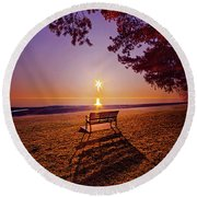 Round Beach Towel featuring the photograph It Is Words With You I Seek by Phil Koch