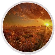 Round Beach Towel featuring the photograph It Just Is by Phil Koch
