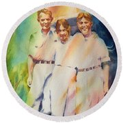 It Was Paradise Here With You Round Beach Towel